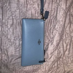 Double zip COACH wristlet